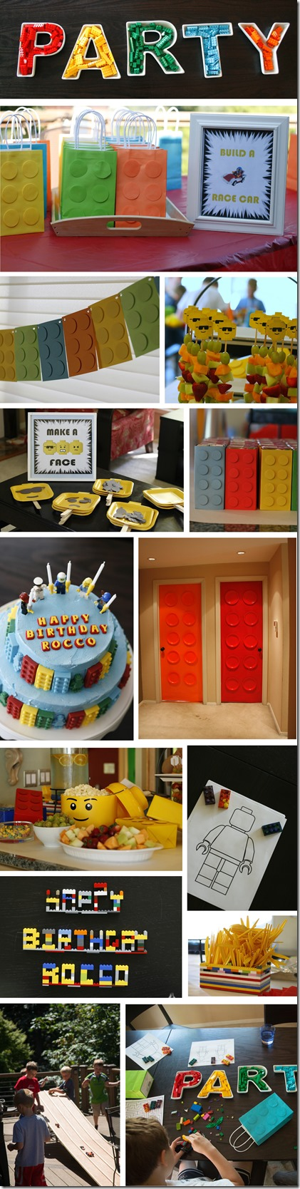 lego party pic collage